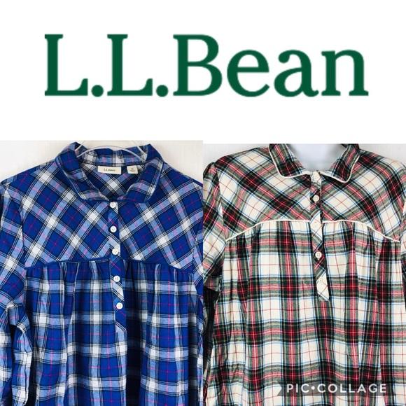 d4d22960d1 L.L. Bean Other - LL Bean Plaid Flannel Two Nightgown Bundle